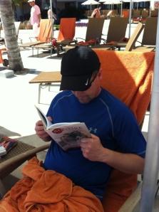 A Bonfire reader kicks back in Cancun